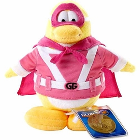 Disney Club Penguin 6.5 Inch Series 2 Plush Figure Gamma Girl [Includes Coin with Code!]