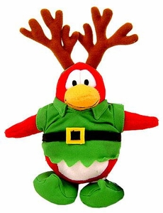 Disney Club Penguin 6.5 Inch Series 1 Plush Figure Elf Reindeer {Version 1} [Includes Coin with Code!]