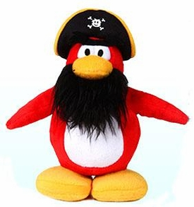 Disney Club Penguin 6.5 Inch Series 1 Plush Figure Captain Rockhopper {Version 1} [Includes Coin with Code!] Chase Piece!