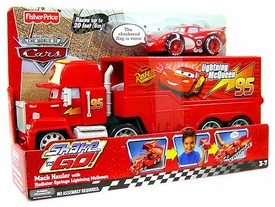 Disney / Pixar CARS Movie Shake n' Go Deluxe Figure Mack Hauler with Radiator Springs Lightning McQueen