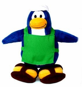 Disney Club Penguin 6.5 Inch Series 1 Plush Figure Barista [Includes Coin with Code!]