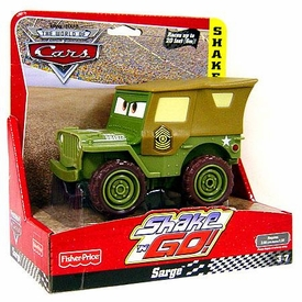 Disney / Pixar CARS Movie Shake n' Go Toy Figure Sarge