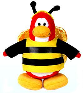 Disney Club Penguin 6.5 Inch Series 1 Plush Figure Bumble Bee [Includes Coin with Code!]
