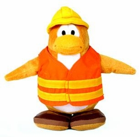 Disney Club Penguin 6.5 Inch Series 1 Plush Figure Construction Worker [Includes Coin with Code!]