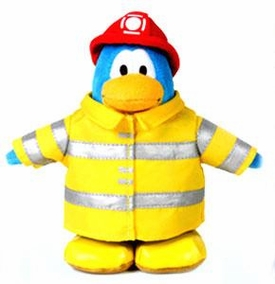 Disney Club Penguin 6.5 Inch Series 1 Plush Figure Firefighter [Includes Coin with Code!]