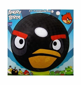 Angry Birds 5 Inch Rubber Playground Ball Black Bird