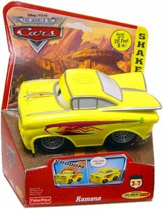 Disney / Pixar CARS Movie Shake n' Go Toy Figure Yellow Ramone [Random Package]