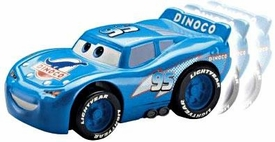Disney / Pixar CARS Movie Shake n' Go Toy Figure Blue Dinoco McQueen