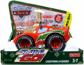 Disney / Pixar CARS Movie Shake n' Go Toy Figure Christmas Lightning McQueen