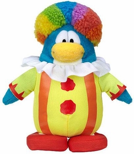 Disney Club Penguin 6.5 Inch Series 15 Plush Figure Clown [Includes Coin with Code!]
