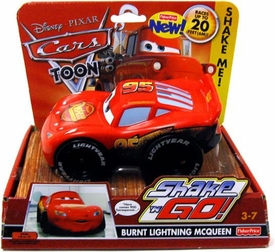 Disney / Pixar CARS Movie Shake n' Go Toy Figure Burnt Lightning McQueen