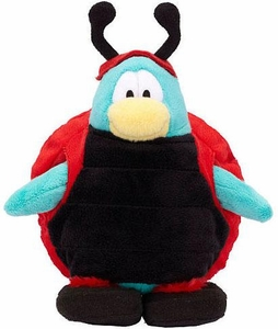 Disney Club Penguin 6.5 Inch Series 15 Plush Figure Ladybug [Includes Coin with Code!]