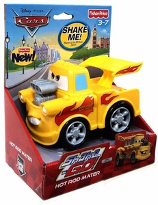 Disney / Pixar CARS Movie Shake n' Go Toy Figure Hot Rod Mater