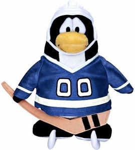 Disney Club Penguin 6.5 Inch Series 11 Plush Figure Hockey Player {Blue Jersey} [Includes Coin with Code!]