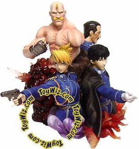 Fullmetal Alchemist PVC Character DX Gashapon The State Military (Roy, Armstrong, Riza & Bradley)