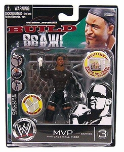 WWE Wrestling Build N' Brawl Series 3 Mini 4 Inch Action Figure MVP [With Cage Wall]