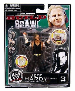 WWE Wrestling Build N' Brawl Series 3 Mini 4 Inch Action Figure Jeff Hardy [With Cage Wall]