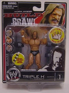 WWE Wrestling Build N' Brawl Series 1 Mini 4 Inch Action Figure Triple H