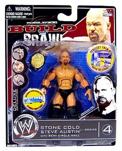 WWE Wrestling Build N' Brawl Series 4 Mini 4 Inch Action Figure Stone Cold Steve Austin