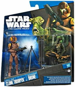 Star Wars 2011 Clone Wars Exclusive Action Figure 2-Pack Special Ops Clone Trooper & Geonosian Drone