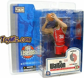 McFarlane Toys NBA Sports Picks Legends Series 1 Action Figure Bill Walton (Portland Trailblazers) Red Uniform