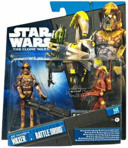 Star Wars 2011 Clone Wars Exclusive Action Figure 2-Pack ARF Trooper Waxer & Battle Droid