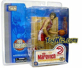 McFarlane Toys NBA Sports Picks Legends Series 1 Action Figure Pete Maravich (Atlanta Hawks) Variant