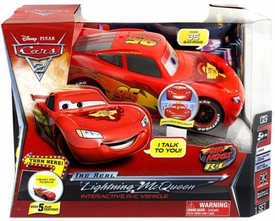 Disney / Pixar CARS 2 Movie Air Hogs 1:24 Scale R/C Interactive Vehicle Real Lightning McQueen [Over 35 Sayings!]