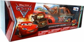 Disney / Pixar CARS 2 Movie Exclusive Air Hogs R/C 1:24 Moving Eyes Set Lightning McQueen & Tow Mater
