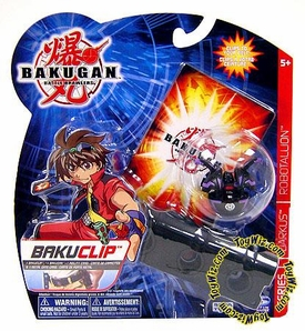 Bakugan Battle Brawlers Game BakuClip Darkon [Black] [Random Bakugan Figure]