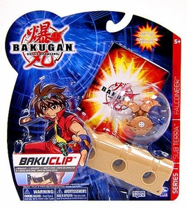 Bakugan Battle Brawlers Game BakuClip Subterra [Brown] [Tigrerra II Figure] BLOWOUT SALE!