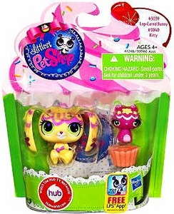 Littlest Pet Shop Totally Talented Pets Lop Eared Bunny & Kitty Friend