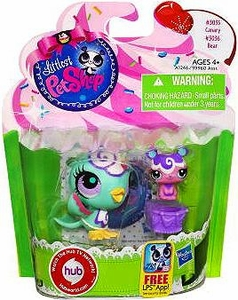 Littlest Pet Shop Totally Talented Pets Canary & Bear Friend