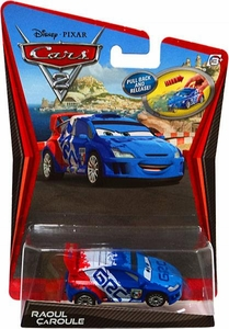 Disney / Pixar CARS 2 Movie 1:55 Scale Pull Back Racer Raoul Caroule
