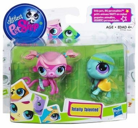 Littlest Pet Shop Totally Talented Pets Monkey & Turtle