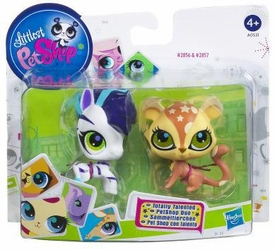 Littlest Pet Shop Totally Talented Pets Zebra & Cheetah
