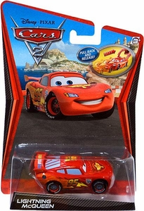 Disney / Pixar CARS 2 Movie 1:55 Scale Pull Back Racer Lightning McQueen