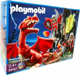Playmobil Dragon Land Set #5840 Knights of Dragon Rock with Dragon