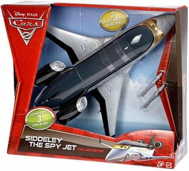 Disney / Pixar CARS 2 Movie Pit Stop Race Vehicle Transporter Siddeley The Spy Jet [2 Secret Missile Launchers!]