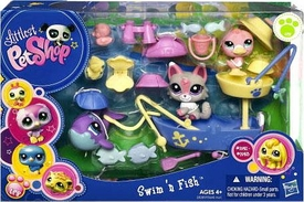 Littlest Pet Shop Figures Playset Swim 'n Fish