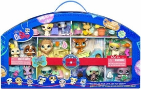 Littlest Pet Shop Exclusive 2009 Around the World Collector's Set of 12 Pets [Walrus, Kangaroo, Beaver, Lion & More!]