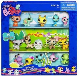 Littlest Pet Shop Exclusive Outdoor Adventure Collector's Set #1 of 15 Pets [Includes Bumblebee, Ladybug, Fish, Pony & More!]