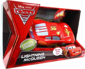 Disney / Pixar CARS 2 Movie Lights & Sounds 1:24 Scale Vehicle Lightning McQueen