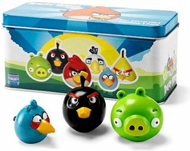 Angry Birds Collectible Figurine 3-Pack Tin Set [3 RANDOM Figures]