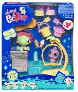 Littlest Pet Shop Deluxe Figure 2-Pack Turtle & Parrot