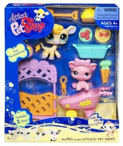 Littlest Pet Shop Deluxe Figure 2-Pack Cow & Pig