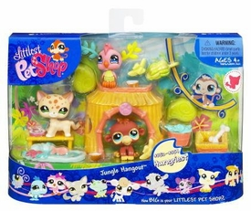 Littlest Pet Shop Figures Playset Jungle Hangout [Leopard, Parakeet & Monkey]