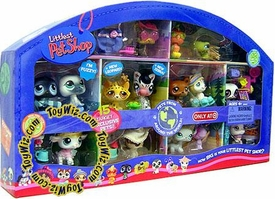 Littlest Pet Shop Exclusive 2008 Around the World Collector's Set of 15 Pets [Includes Leopard, Zebra, Seal, Penguin, Lamb & More!]