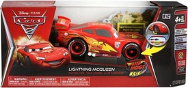 Disney / Pixar CARS 2 Movie Air Hogs R/C 1:24 Scale Moving Eyes RED Lightning McQueen