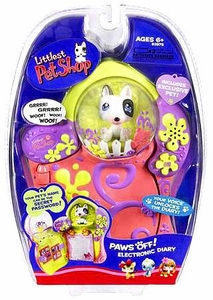 Littlest Pet Shop Paws Off Electronic Diary with Exclusive Bull Terrier Dog